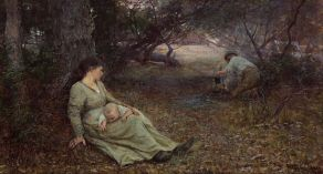 Frederick_McCubbin_-_On_the_wallaby_track_-_Google_Art_Project